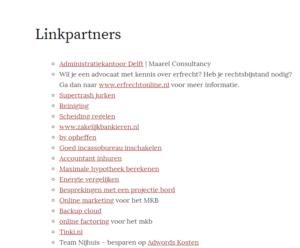 linkruil lijst